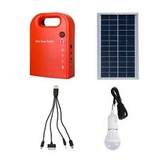 Portable Solar Power Bank Panel 2 LED Lamp with USB Cable Battery Charger Emerge