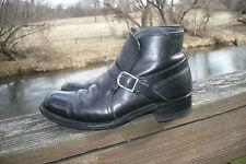 VINTAGE~Men's~SEARS~Black~LEATHER~Ankle BOOTS~Buckle~60's 70's~Sz-8.5D Cool!!