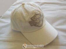 Harley Davidson Phantom Bar & Shield Baseball Cap Kappe Mütze weiß 99455-17VM
