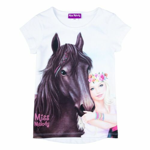 Nuevo Miss Melody caballo camisa t-shirt verano talla 104 116 128 140 84068