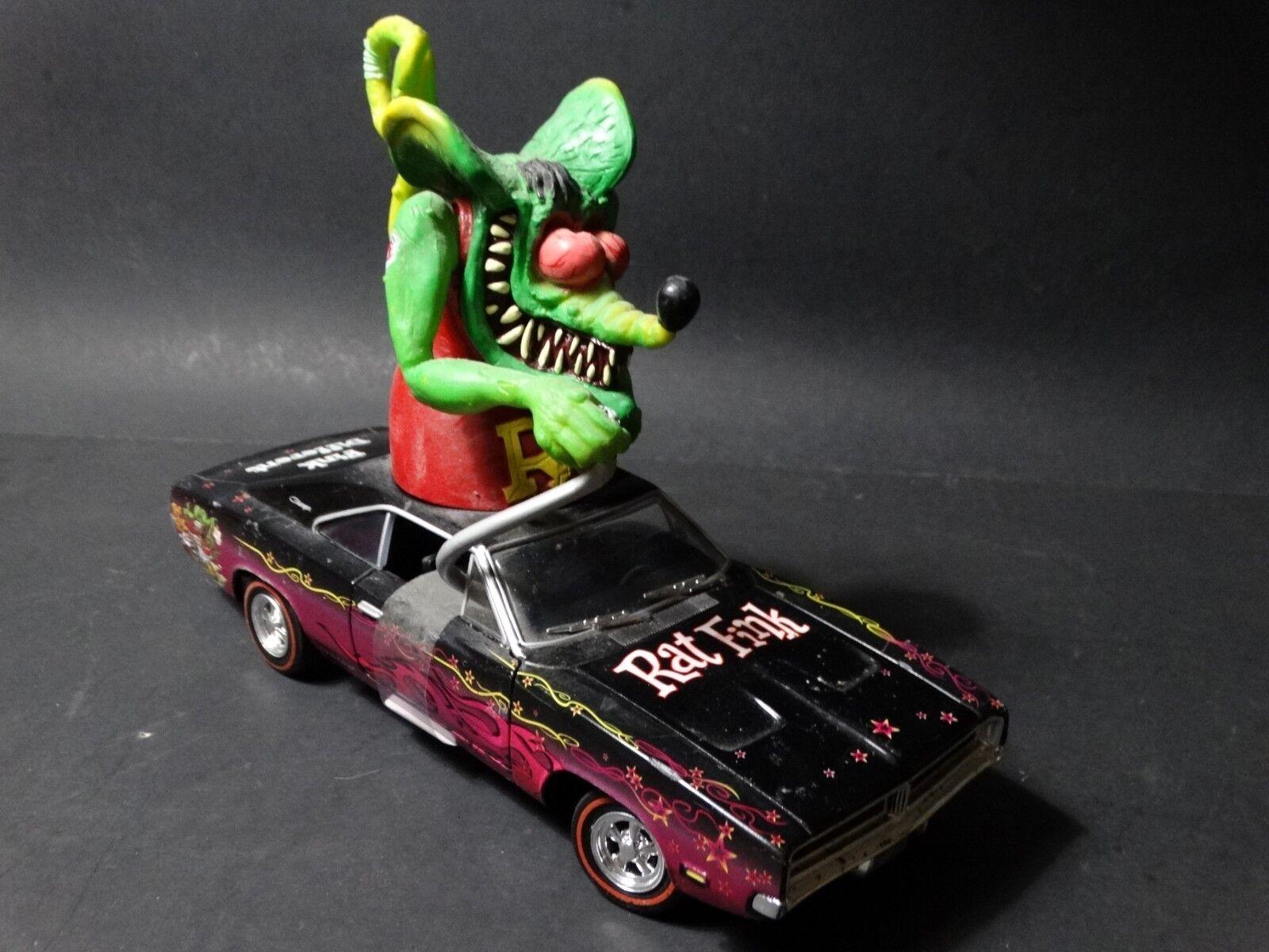Johnny Lightning 1969 Dodge Chargeur Rat Fink MATCO TOOLS échelle 1 24 Diecast Voiture