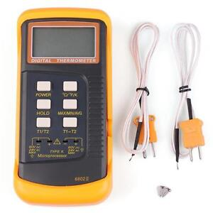 Dual Probe Sensor 5 Digit Thermometer Hygrometer Temperature Humidity Meter