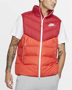 Nike-Bomber-Piumino-Gllet-Rosso-Down-Fill-Windrunner-Vest-Bomber