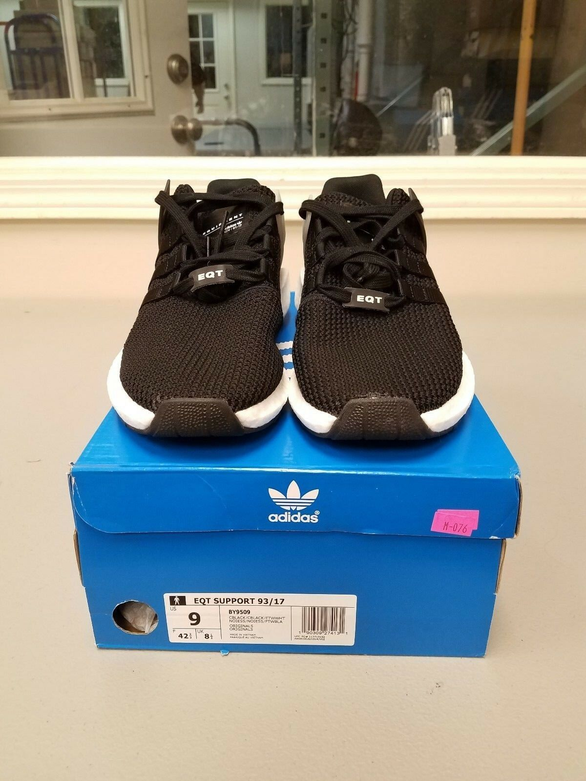 Adidas EQT Support 93 / 17 equipos Ultra negro by9509 hombres USA