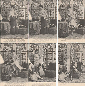 Cartes-postales-anciennes-CPA-Serie-incomplete-6-sur-10-Bonne-annee-N-1107