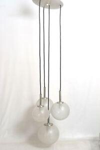 Doria-Kaskade-Eisglas-Deckenlampe-4-flammig-60er-70er-Design