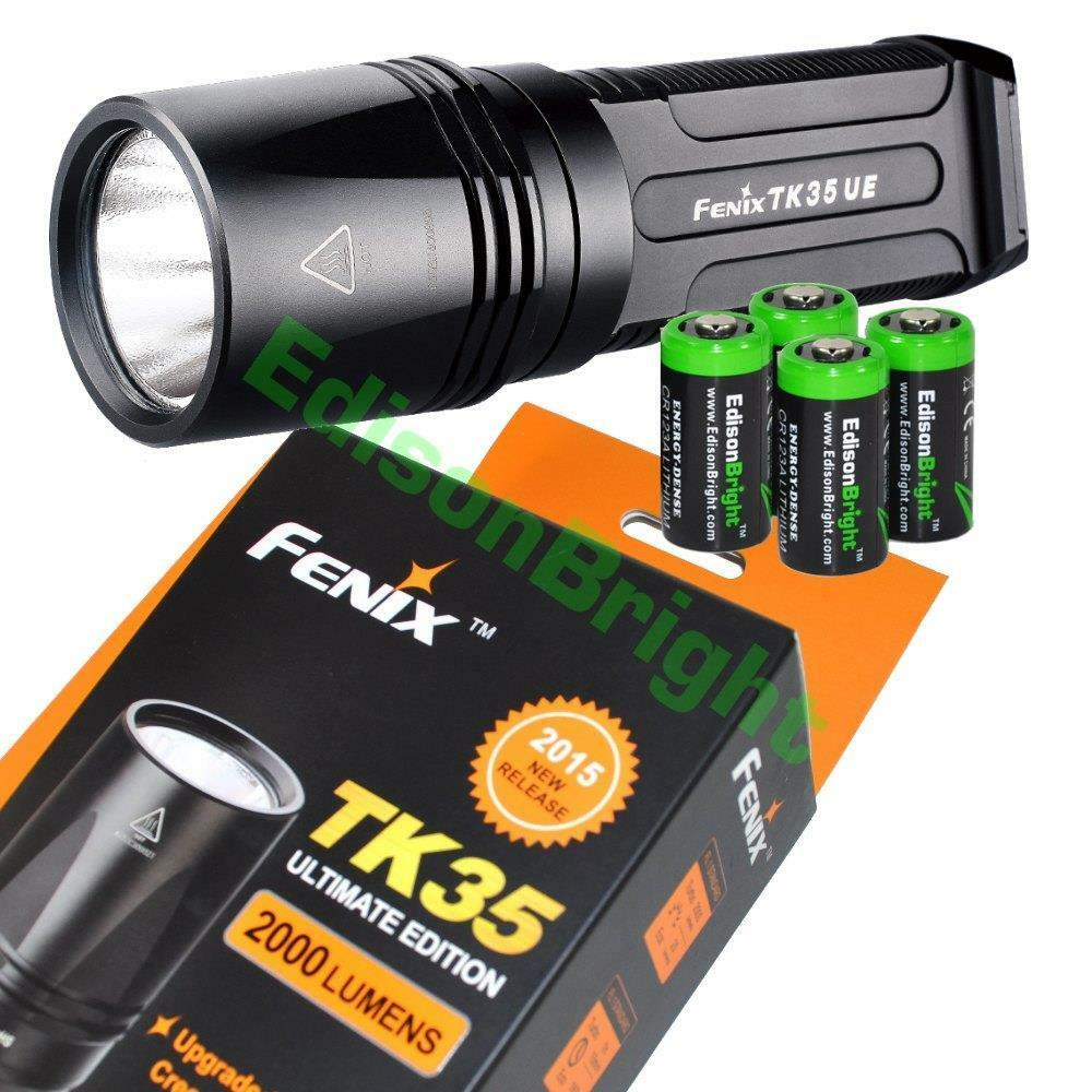 Fenix TK35 UE 2000 Lumen 2015 Cree LED tactical Flashlight Ultimate Ed.w 4 CR123