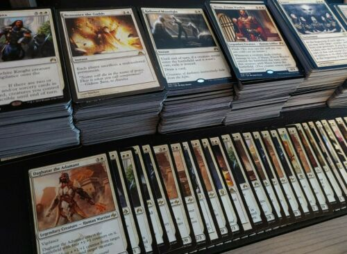 MTG WHITE Magic the Gathering 100 card lot with rares