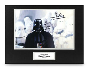 Dave-Prowse-Signed-16x12-Photo-Display-Darth-Vader-Star-Wars-Memorabilia-COA