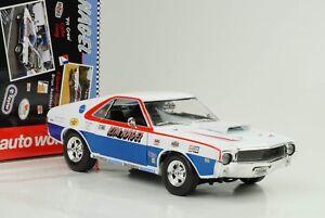 Amc-AMX-Hurst-S-s-kim-clavo-1969-COCHE-MODELO-DIECAST-1-18-auto-World-ertl-nuevo