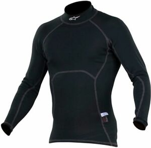 a307e6269827 ALPINESTARS ZX TOP Long Sleeve Nomex Top BLACK   WHITE flame ...
