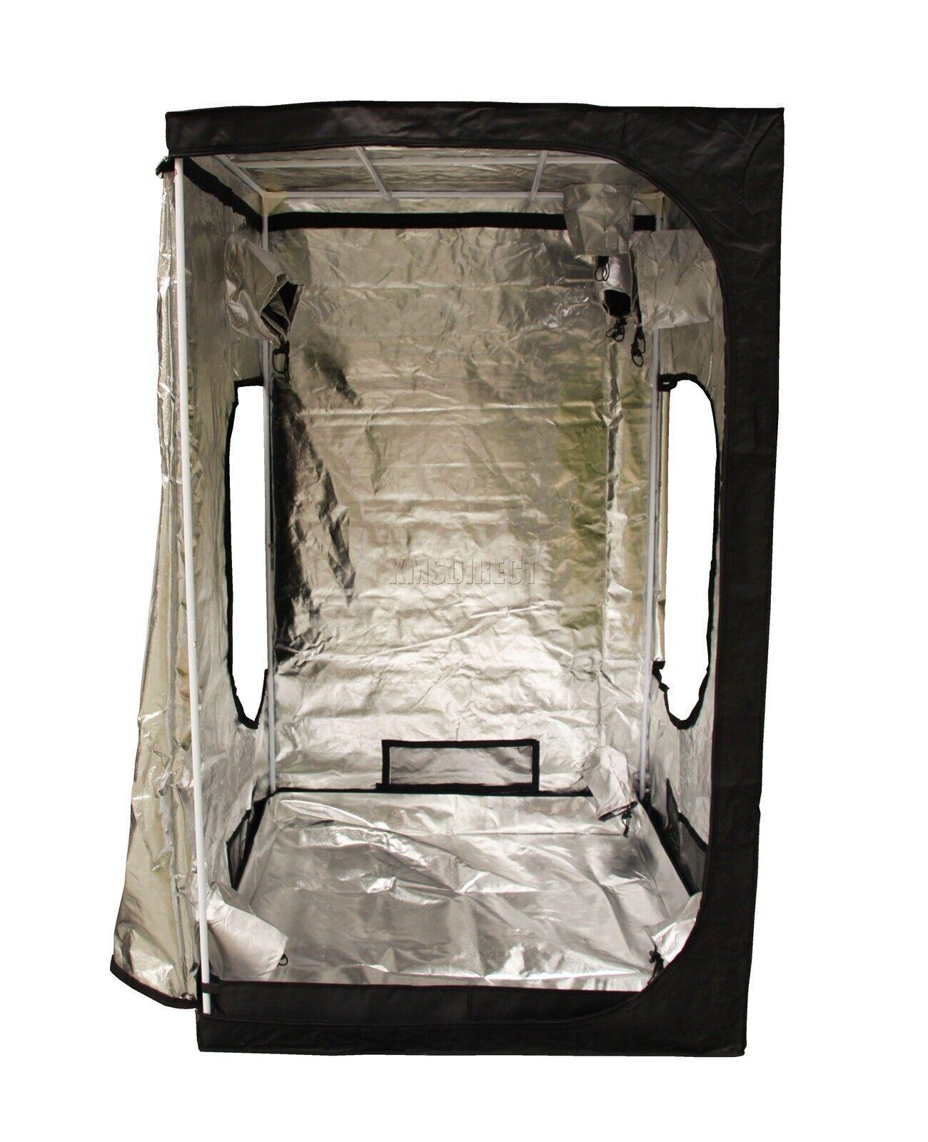 Nuevo diseño de 1.2 X 1.2 X 2m portátil Grow Tent Plata Mylar Hydroponic Cuarto Oscuro