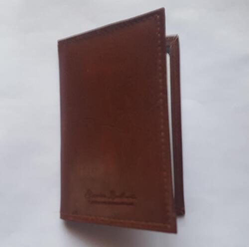 In finta pelle marrone Autobus Pass OSTRICA ID Carta di Credito Portafoglio da viaggio sottile Letherette