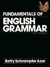 Grammar: Fundamentals of English Grammar by Betty Schrampfer Azar (1992, Paperback, Student Edition of Textbook)