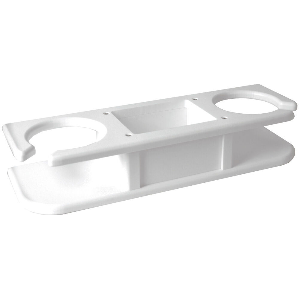 TACO 2Drink Poly Cup Holder wCatchAll  bianca