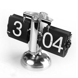 Home-Decor-Stainless-Steel-Digital-Retro-Flip-Down-Clock-Internal-Gear-Operated