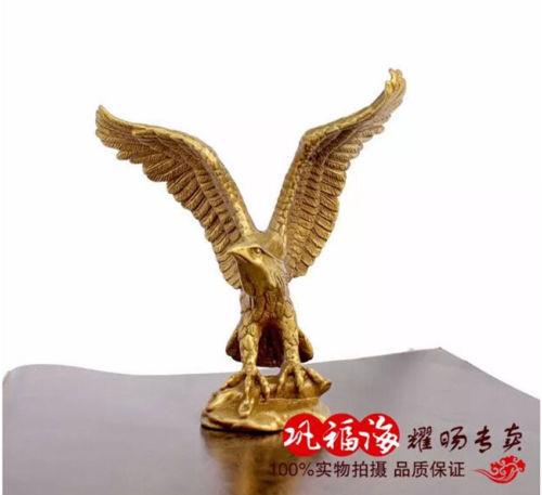 "Small Bronze Brass Statue EAGLE//Hawk Figure figurine 4.5/""High"