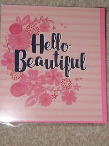 034-HELLO-BEAUTIFUL-034-PINK-Sealed-BLANK-Card-see-photo-039-s