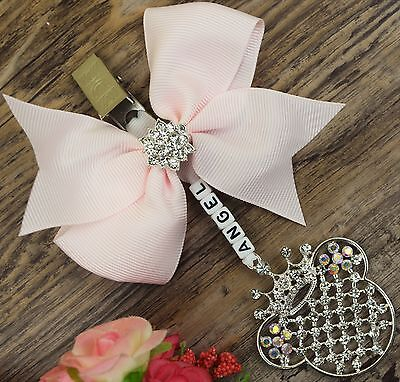 Personalised stunning pram charm in light pink  boys and girls