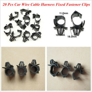 details about 20 pcs plastic car oil pipe beam line clips wiring harness  wrap cable fastener