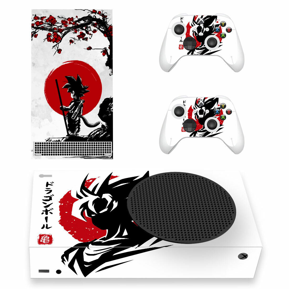 Dragon Ball Cover Vinyl Skin Sticker for Xbox Series S Console & Controllers