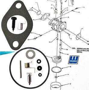 Carburetor Kit with Instructions fits Tecumseh  HH120 HH140 HH160 HH180 LMH  i10