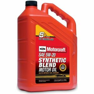 motorcraft synthetic blend engine oil sae 5w 20 5 qt