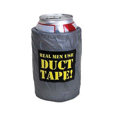 """ Real Men Use Duct Tape "" Beer can bottle - Foam Koosie Coosie Coozie Duck"
