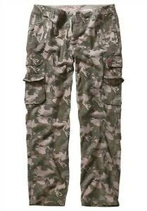 Joe-Browns-Cargo-Hose-K-Gr-28-29-30-NEU-Herren-Camouflage-Militaer-Tarnhose-Army