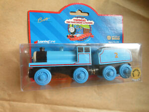 Details About 2001 Thomas Wooden Edward Blue Engine Rare With Box