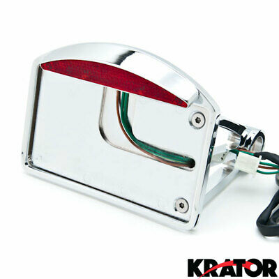 Krator Motorcycle Verticle Side Mount License Plate Axle For Harley Davidson Dyna Super Glide Sport