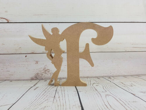 18mm mdf Fairy and Letter Shape MDF Wooden Craft Blank 200mm high