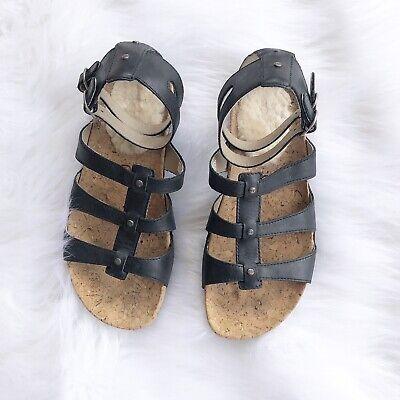 26b7e74ecc0 ugg sandals sechura black leather 6 gladiator Women's Shoes | eBay