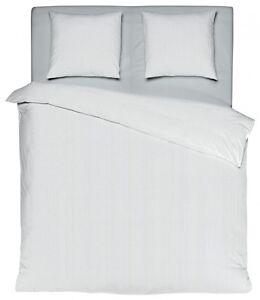 mistral home perkal bettw sche streifen wei grau gyptische baumwolle ko rv ebay. Black Bedroom Furniture Sets. Home Design Ideas
