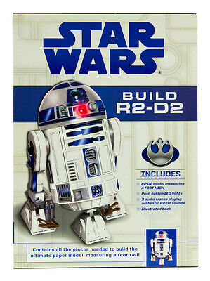 Star Wars Build R2 D2 Paper Craft Model Kit With Authentic Sound Module Led Lite 834509003718 Ebay
