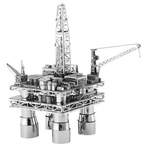 Metal Earth Offshore Oil Rig & Tanker 3D Laser Cut Metal DIY Model Build Kit