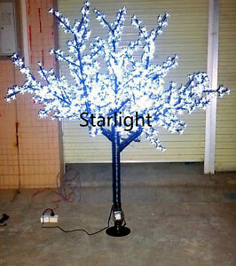 6 5ft Outdoor Led Christmas Light Cherry Blossom Tree Holiday Home Decor White Ebay