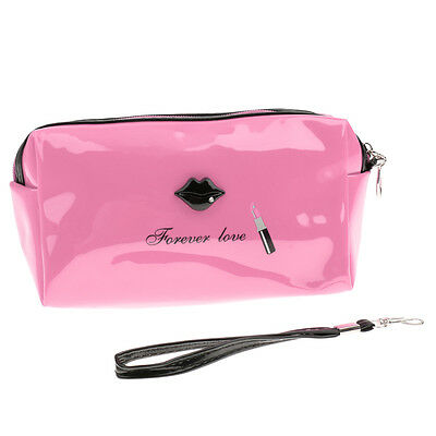 Waterproof Travel Makeup Toiletry Bag PU Cosmetic Organizer Pouch Case Handbag