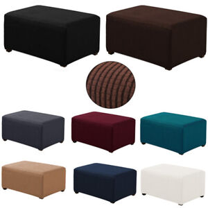 Stretch Storage Ottoman Slipcover Elastic Rectangle ...