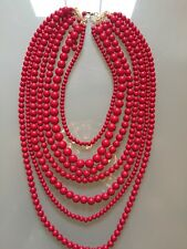 NWOT Multi Layer Red Beaded Necklace Anthropologie