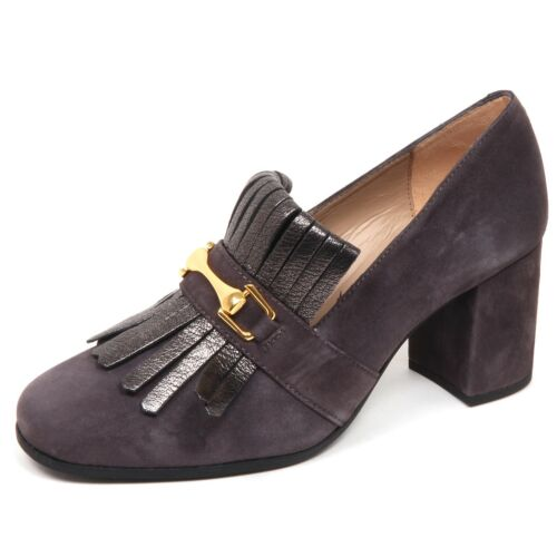 Decollete Wildlederschuh Unisa Grey Schuhe Frau Olimpo Donna Frange E6482 dCoexB