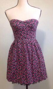 women's black poppy corset dress sz s mini floral tulle