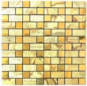 Mosaico-piastrella-AUTOADESIVO-IN-ALLUMINIO-ORO-METALLO-TAPPETINI-200-ka87g-f10