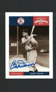Bobby Doerr Boston Red Sox Signed 2004 Donruss Baseball Card W/Our COA