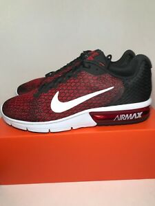 a0dd83c036 Nike Air Max Sequent 2 Black/Red 852461-006 Running Shoes Men's ...