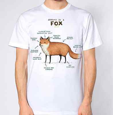 Anatomy of Fox New T-Shirt Abstract Graphic Design Top Science
