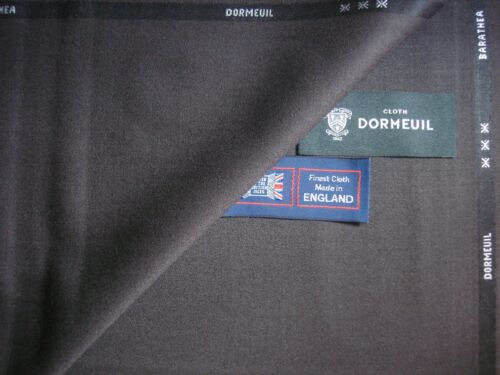 """MADE IN ENGLAND 3.4 m. DORMEUIL """"Barathea"""" WOOL SUITING FABRIC in /""""Mid Brown/"""""""