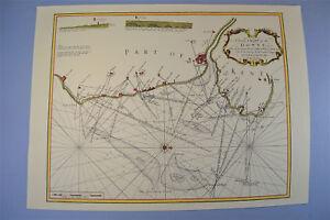 VINTAGE Marine Grafico Foglio di mappa del DOWNS Goodwin Sands