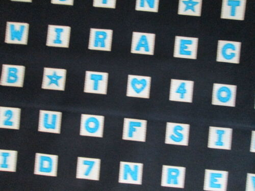 SCRABBLE GAME BOARD TILES BLUE BLACK BTHY