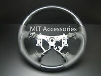 Mit Toyota 4runner 2003-2009 Black Wood Genuine Leather Steering Wheel-sports